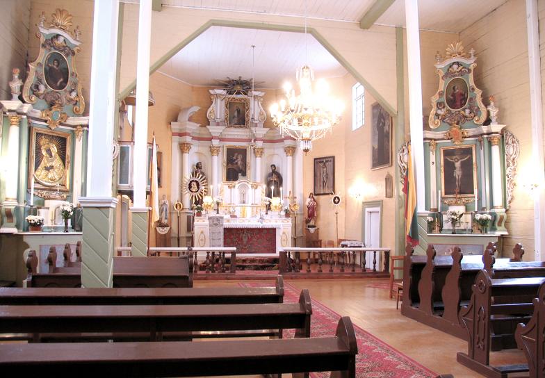 Костел Святого Иосифа в Палуше интерьер